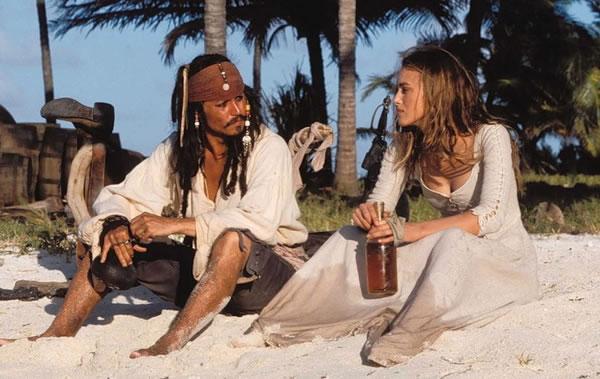Пираты карибского моря 1: Проклятие Чёрной Жемчужины (кадр из фильма) / Pirates of the Caribbean: The curse of the Black Pearl