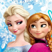 Две принцессы из мультика Холодное Сердце